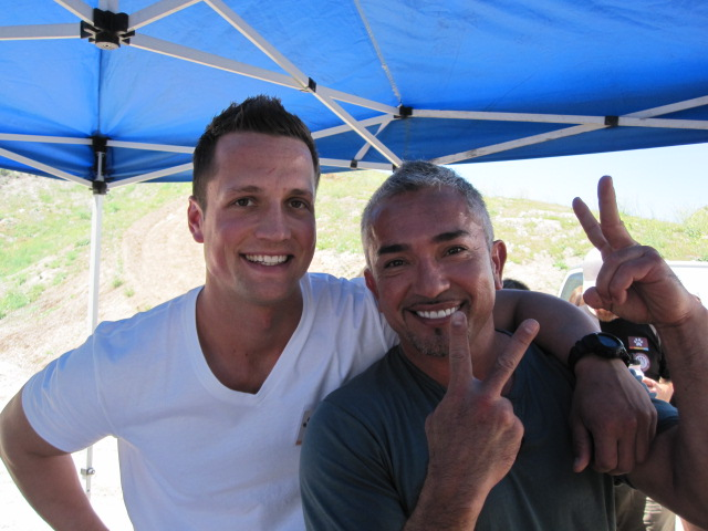 Michael Bylo and Cesar Millan